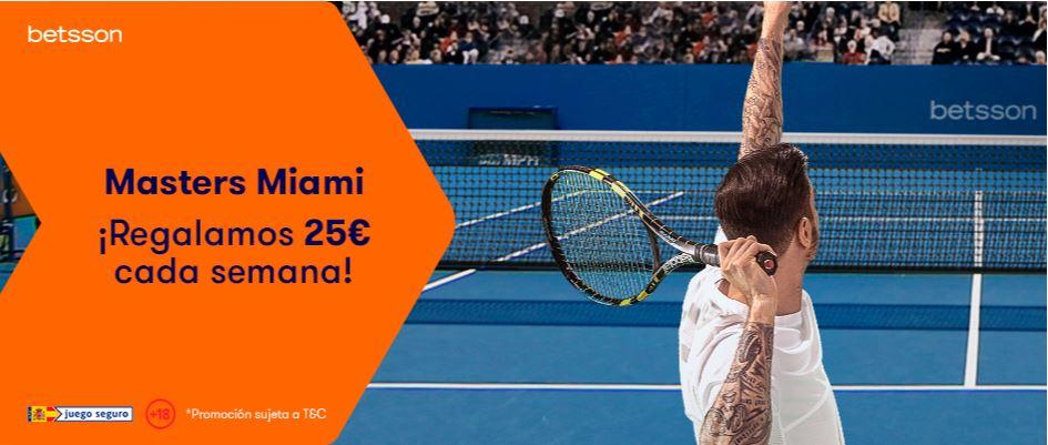 promoción masters 1000 miami 25€