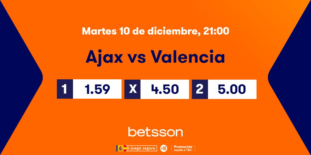 cuotas ajax valencia champions league