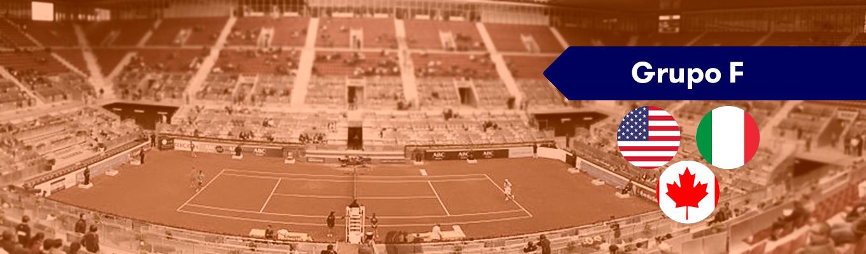 Grupo F Copa Davis: Canadá, Italia y Estados Unidos