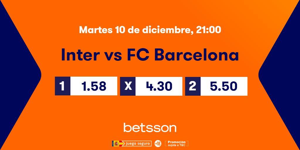 cuotas inter fc barcelona champions league