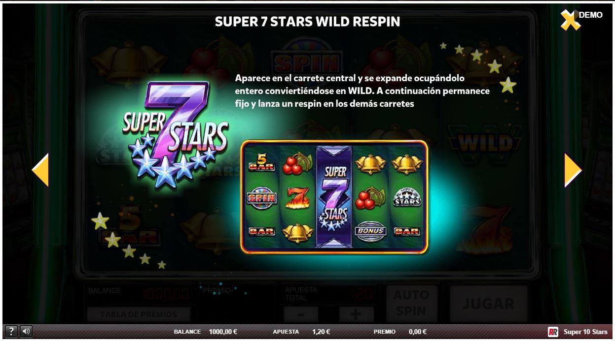 super 7 stars wild respin