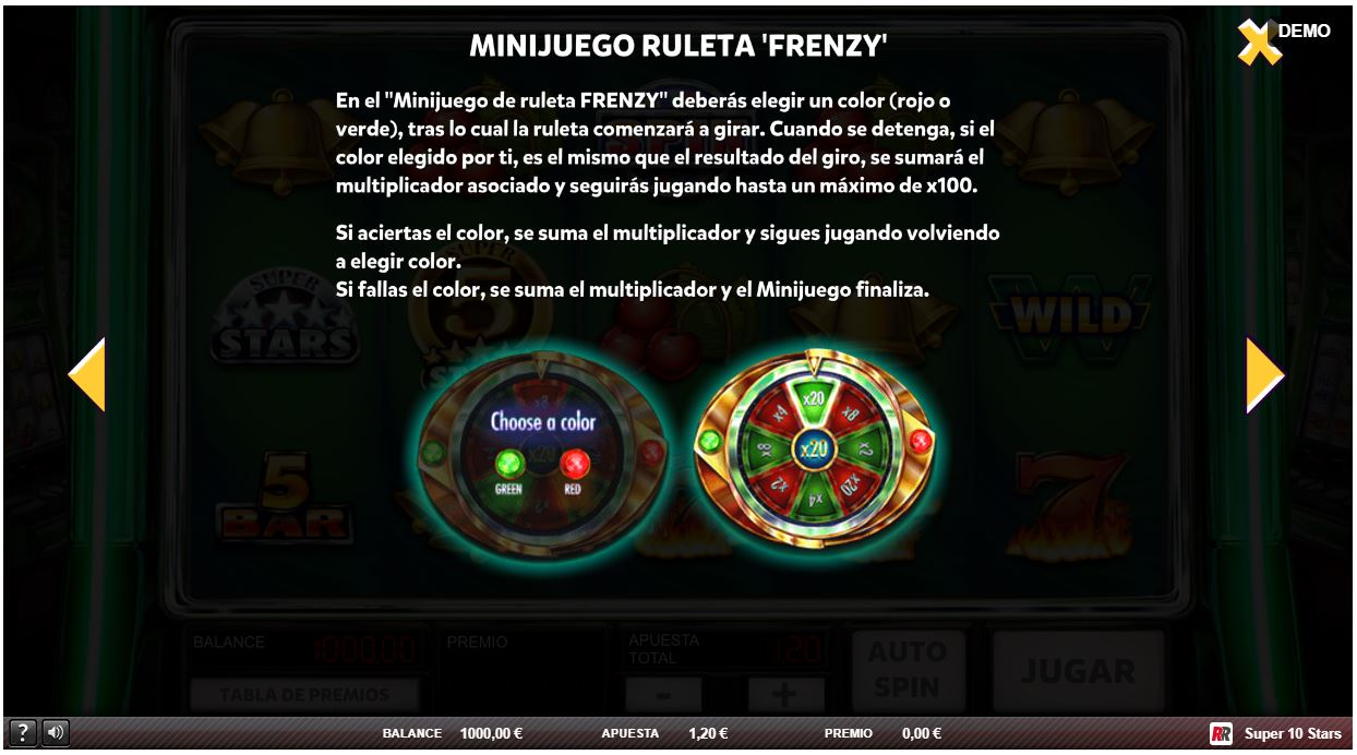 minjuego ruleta frenzy