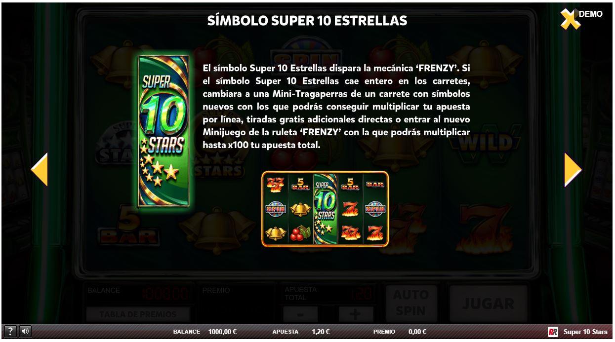 símbolo super 10 stars