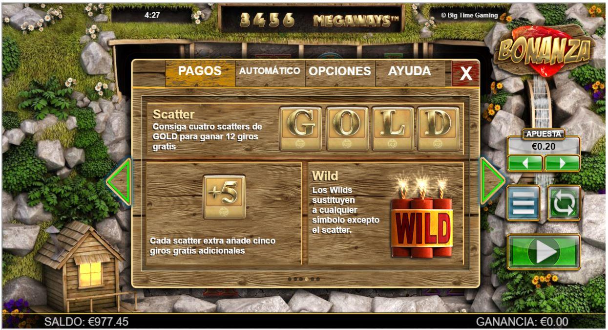 gold bonanza scatters