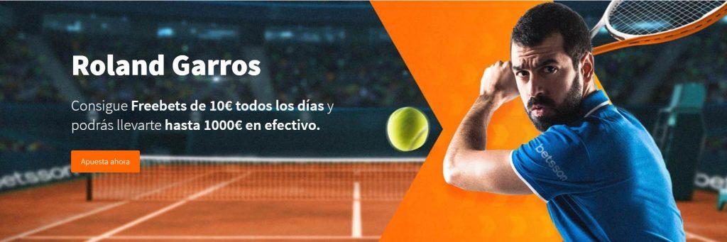 Roland Garros Freebets Betsson