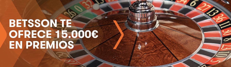 Betsson, el mejor casino online y móvil de España, te ofrece 15.000 € en premios