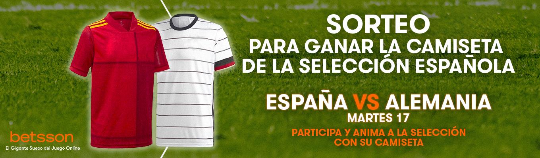 Participa en nuestro sorteo y llévate una camiseta de la Selección Española