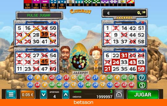 Caveman-bingo-cartones