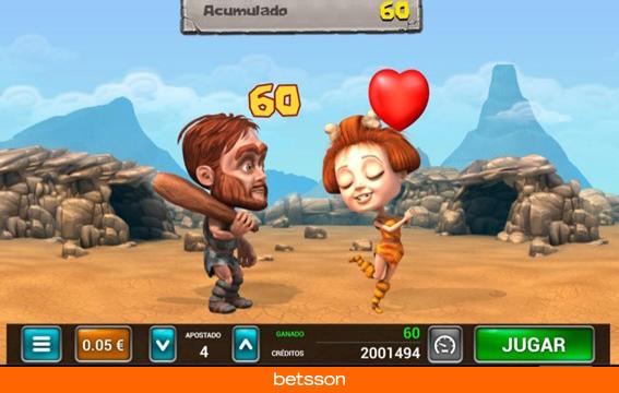 Caveman-bingo-minijuego-besos