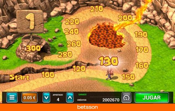 Caveman-bingo-minijuego-recorrido