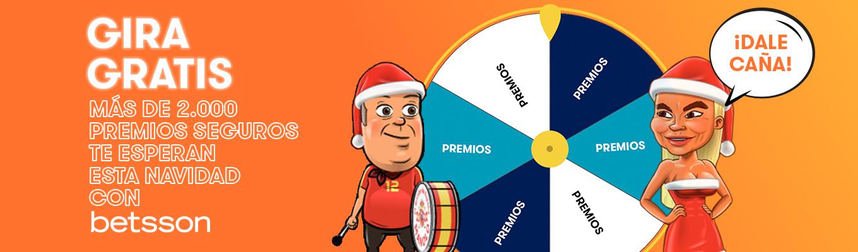 Especial NAVIDAD, gira GRATIS la ruleta y gana hasta 2.000 premios.
